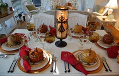 Appealing Ideas to Make a Thanksgiving Table Decorations: Awesome Thanksgiving Table Decorations To Make Dining Room A Tablescape To Celebrate Fall Scintillating Ideas Complete With An Appetizer On White Tableclothes ~ ellabb.com Decorating Inspiration
