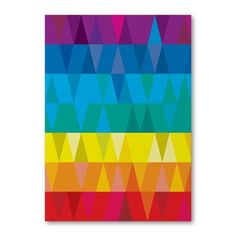 Triangles Card by digtheearth on Etsy.