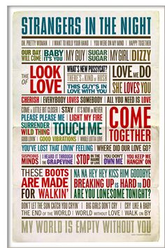 1960s love song poster