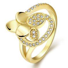 Plated Multi Petals Ring, Women's