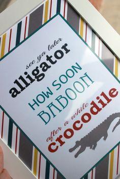 see ya later alligator printable
