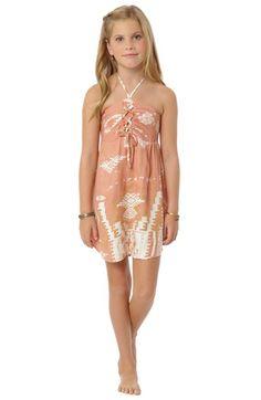 O'Neill 'Sun Love' Geo Print Halter Dress (Little Girls & Big Girls)