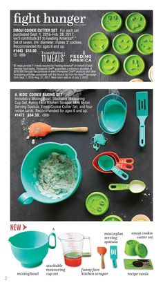 Pampered Chef. New kids in the kitchen products 9-1-2016