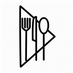 Cutlery, fork, knife, napkin, restaurant, silwerware, spoon icon ...