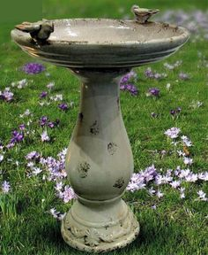 Antique Ceramic Birdbath Birds And Their Nests, Ceramic Bird Bath, Bird Bath Fountain, Outdoor Fun, Outdoor Decor, Garden Urns, Patio Plants, Garden Accessories, Terracotta Pots