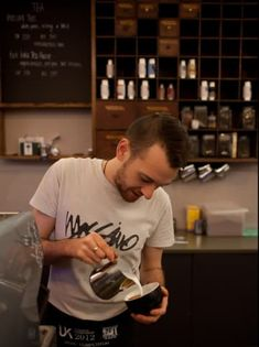 You get to be the fabled Cute Barista some of your customers swoon over. 19 Perks Of Being A Barista Coffee Barista, Coffee Shop, Coffee Lovers, Cottage Kitchen Cabinets, Death Before Decaf, Tea Benefits, Cool Kitchens, Open Kitchens, No Cook Meals
