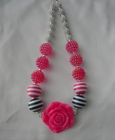 Pink Girl- Childrens Chunky Bead Necklace