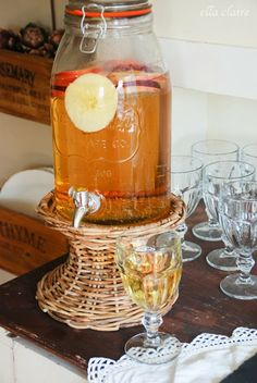 {Ella Claire}: Sparkling Cider Recipe, Fall Party Food Vignette, and Autumn Abounds