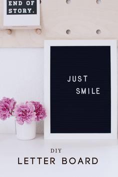 In dieser Anleitung zeige ich dir, wie man ein Letter Board - Buchstabentafel selber machen kann. Das Letter Board ist eine tolle und abwechslungsreiche Dekoration für dein Zuhause.