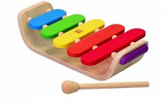 Every baby should have at least one musical instrument to play! This wooden xylophone from Plan Toys is colorful, sturdy and easy for little ones to play.