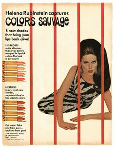 Helena Rubinstein cosmetics; 1966