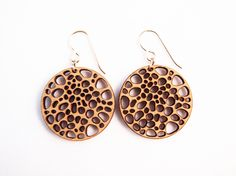 Dried Lotus, Laser Cut Earrings.