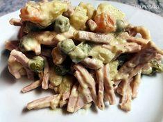Vlašský šalát špeciál podľa ČSN (fotorecept) - recept | Varecha.sk Lidl, Pasta Salad, Chicken, Ethnic Recipes, Food, Crab Pasta Salad, Essen, Meals, Yemek