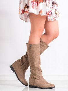 Semišové čižmy s cvokmi Nose Types, Riding Boots, Fall Winter, Female, Heels, Casual, Products, Fashion, Tatoo