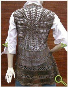 Crochet Coat, Crochet Cardigan, Crochet Shawl, Crochet Clothes, Hairpin Lace Crochet, Freeform Crochet, Unique Crochet, Beautiful Crochet, Broomstick Lace