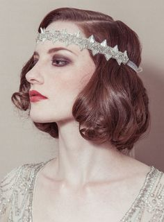 Deco Beaded Headband | 47 Gorgeous Wedding Headpiece Ideas