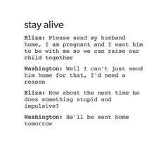 Hamilton  Tumblr  Stay Alive