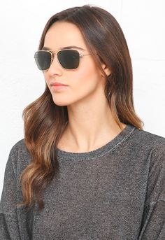 9a4a5e579ba Ray-Ban Caravan Sunglasses in Gold  135 Ray Ban Sunglasses Outlet