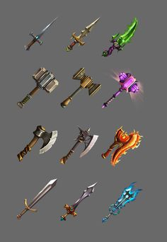 Elevate your workflow with the Set icons of Weapons for the Game asset from Zenzal - Shirva. Browse more GUI on the Unity Asset Store. Star Citizen, Game Icon, Icon Set, Game 2d, Types Of Swords, Game Assets, Game Design, Black Backgrounds, Unity