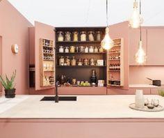 دکوراسیون آشپزخانه سلامت Decor, Furniture, Interior And Exterior, Interior, Ceiling Lights, Cabinet, Home Decor, Storage, Architecture Board
