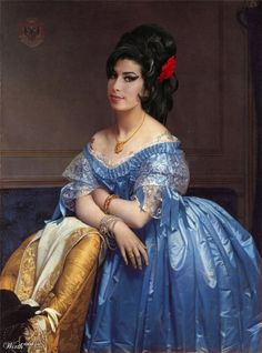 Celebrities Re-imagined in Classic Paintings This is Amy Winehouse