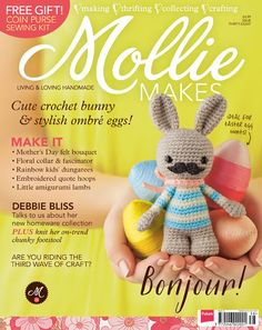 From Mother's Day gifts, Easter egg decorations and springtime makes, this month's issue is a marvel. Mollie Makes 38 includes sewing and embroidery projects, crochet tutorials, felt makes, knitting projects, plus our very first recipe.