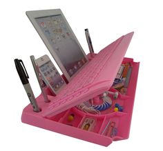 """mk1800 - Another award winning 6 in ONE Keyboard w/Organizer with """"the restt"""" tablet stand, this is the basic model - mykeyo.com"""