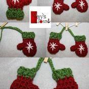 Mini Mitten Set Ornament  - via @Craftsy