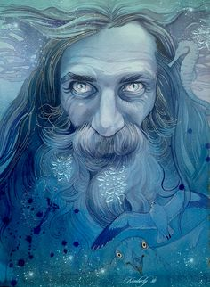 """Ulmo by kimberly80.deviantart.com. """"Ulmo dwells in the outer ocean and controls the flowing of the waters and the courses of the rivers, the replenshment of springs and the distilling of rains and dews throughout the world. At the bottom of the sea he bethinks him of music"""" deep and strange yet full ever of sorrow."""