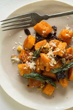 A recipe for Sweet Potato Gnocchi with Fried Sage Dried Cherries and Toasted Hazelnuts.