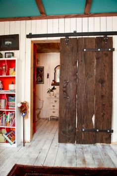Beautiful Country House Design And Room Decorations. Wanting a door like this to cover our laundry room doorway