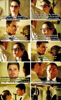 Arrow - Oliver, Diggle & Felicity #2.21 #Season2 Oh Oliver! You should know by now that death isn't always the answer!!!