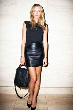 Leather skirt all black