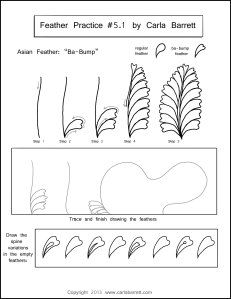 Feather Practice 5.1 by Carla Barrett lots of practice sheets for feathers