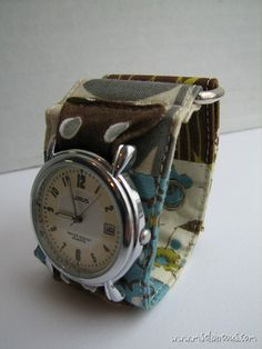 Ms. Elaineous Teaches Sewing: Patchwork Watchband: Free Pattern!