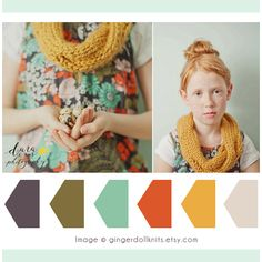 Color Palette... Inspired by the Photo on Ginger Doll Knits Etsy Shop.