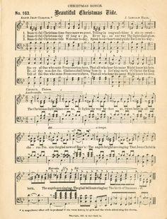 Free printable vintage Christmas music prints