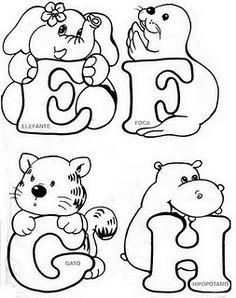 Darling Make Alphabet Friendship Bracelets Ideas. Wonderful Make Alphabet Friendship Bracelets Ideas. Pattern Coloring Pages, Colouring Pages, Coloring Books, Alfabeto Animal, Alphabet For Kids, Alphabet And Numbers, Hand Lettering Alphabet, Fancy Letters, Embroidery Alphabet