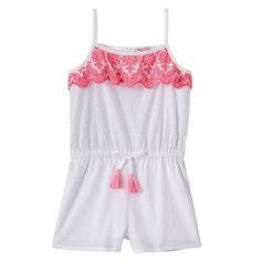 Toddler Girl Design 365 Swiss-Dot Romper, Size: 2T, Dark Pink