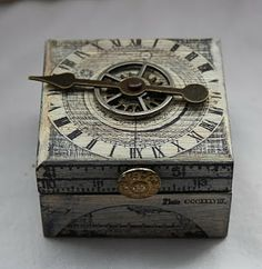 "LOVE THIS ""TIDE CLOCK"" BOX--I DEFINITELY need to try this project. Carol Fox - WeLcOmE 2 mY wOrLd: Little Shabby Chic Box"