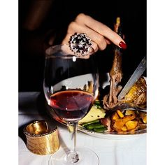 #Diamonds and drumsticks. Happy #Thanksgiving! #finejewelry #foodie #ThomasLagrange