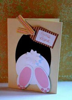 Buona Pasqua!-idea originale per un biglietto di auguri pasquali