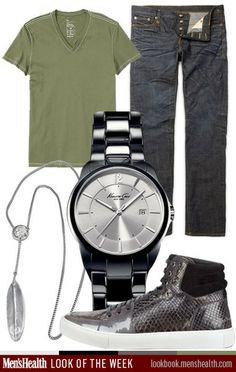 Let your accessories speak for you this summer. Shirt: Gap Jeans: R13 via Mr. Porter Shoe: YSL Watch: Kenneth Cole Necklace: Miansai