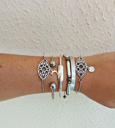 Items similar to Boho Layered Bracelets Layered Bracelets, Silver Bangle Bracelets, Gold Plated Bangles, Bracelet Making, Layers, Brass, Steel, Boho, Chic