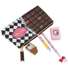 This limited edition Pop Cutie Japanese pen case gift set with chocolate bar print is a fun and kooky stationery kit. Including a pencil, pen, pencil sharpener and case, girls have all the essentials they need when the new term starts. - Case measures x Be My Valentine, Valentine Day Gifts, Japanese Pen, Locker Decorations, Baby Center, Pen Case, Food Art, Gifts For Kids, Stationery