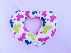 Girls Butterfly Neck Pillow Kids Travel Pillow by Happynightowls