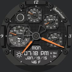 Survival Moon Glow by Bone Head Design watch face preview