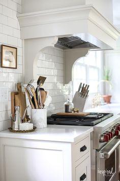 Bayberry Kitchen Remodel Reveal - Kitchen Makeover Kitchen Design #kitchen #makeover #remodel #traditional #modern #country #design #decorating Kitchen Reno, Kitchen Remodel, Kitchen Ideas, Remodeling Costs, Mason Jars, White Dinnerware, Dining Nook, Refrigerator Freezer, Kitchens