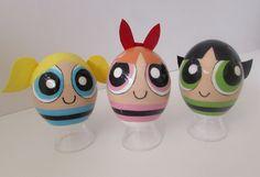 Hand Painted Power Puff Girls Eggs Direct from Artist Miniature Works of Art | eBay