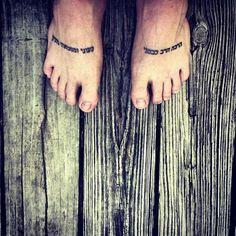 http://tattoo-ideas.us/wp-content/uploads/2013/12/feet-tats.jpg Hebrew Psalms #Yourtattoos